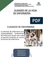 Generalidades de La Hoja de Enfermería Presentación Conalep