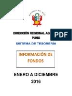 Información de Fondos 2016
