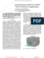 Investigation of Multi-Beam Multi-Port MIMO