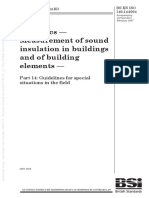 [BS en ISO 140-14-2004] -- Acoustics. Measurement of Sound Insulation in Buildings and of Building Elements. Guidelines for Special Situations in the Field