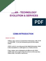 CDMA Evolution, Technology & Services