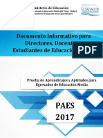 Documento Informativo Paes 2017