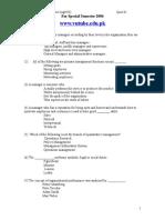 Princilpes of Management Quiz 01