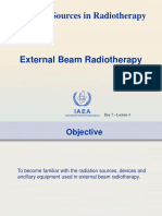 Lecture 4 - Sources in Radiotherapy – External Beam Radiotherapy