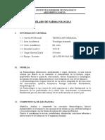 Sillabus Farmacologia i