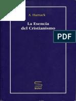 Harnack, Adolf. La Esencia Del Cristianismo