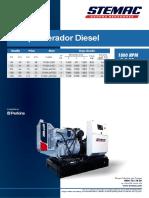 Lâminas Diesel PERKINS 38a125Kva SET16
