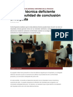 Defensa técnica deficiente genera nulidad de conclusión anticipada.docx