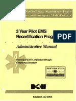 2004 NYS BEMS 3 Year Pilot Recert. Manual