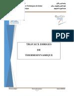 Td Thermodynamique Avan 2014