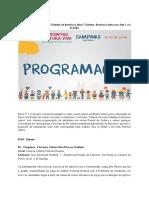 Programação Oficial - Cultura Viva Comunitária nas Cidades