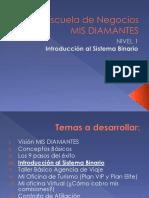 IV. Introducción Al Sistema Binario-Nivel 1-Escuela de Negocios MIS DIAMANTES