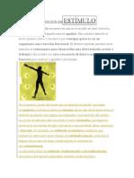 DEFINICIÓN DE ESTÍMULO