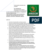 AMISOM Hands Over Premier University to the Federal Government of Somalia