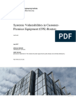 Systemic Vulnerabilities in Customer-Premises Equipment (CPE) Routers