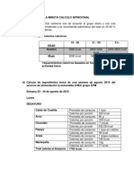 Analisis de La Minuta Calculo Nitricional