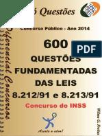1727_LEIS 8.212_91 e 8.213_91 -Concurso Do INSS - Apostila Amostra