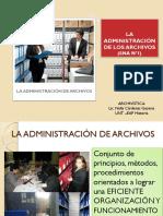 La Administración de Los Archivos