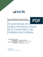 Aprendizaje Lengua Francesa a Traves de La Creatividad y Las Inteligencias Multiples