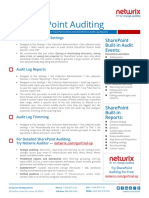 SharePoint Auditing Quick Reference Guide