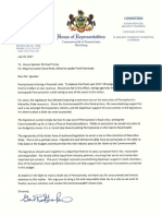Letter calling for shale tax vote