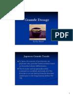 Eric Brand Granule Dosage Notes