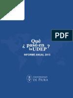 Memoria Anual 2013 Universidad de Piura