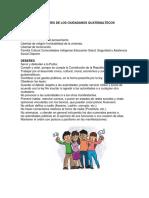 Derechos y Deberes de Los Ciudadanos Guatemaltecos Derechos