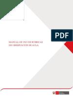 Manual de Uso de Rubrica minedu