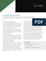 Dell PowerEdge M630 Spec Sheet