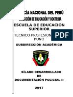 Silabo Documentacion Policial II