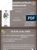 A Presentation of Rizal's Childhood Life
