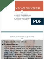MACAM-MACAM NEGOSIASI