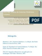 Analise Sistemas Lineares Mestrado