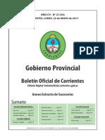 Boletín Oficial de Corrientes Nro 27.356 - Normas (22-05-2017)