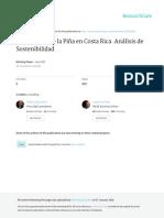 La Industria de La Piña en Costa Rica. Análisis de Sostenibilidad