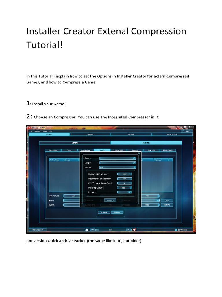External Compression Tutorial pdf