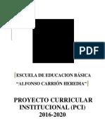 Modelo Completo PCI 2016 - 2020