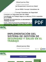 Presentación Implementación SGSST - Santander - 14-09-2016