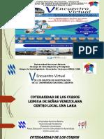 Presentacion Cotidianidad de los cursos de Lengua de Señas Venezolana( Lsv) Universidad Nacional Abierta, C.L. Lara.  Perez F, P.