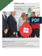 16-01-17 Pavlovich Entrega Material Didáctico a Escuelas -Tribuna