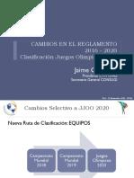 Sistema de Clasificacion a JJOO 2020