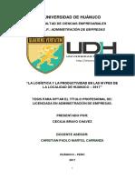 TESIS LA LOGISTICA Y LA PRODUCTIVIDAD EN LAS MYPES DE LA LOCALIDAD DE HUANUCO.pdf