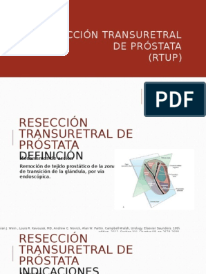 reseccion transuretral prostatica pdf