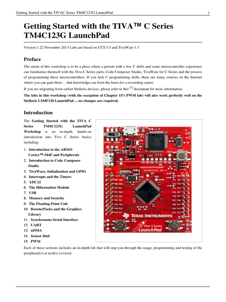Getting Started with the TIVA™ C Series TM4C123G LaunchPad