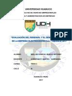 Trabajo Finalevaluación Del Personal y El Desempeño Laboral en La Empresa Electrocentro s 1