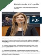 16-01-17 Entrega Pavlovich Iniciativa de Reducción Del 50% a Partidos en Congreso -La Silla Rota