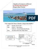 Chinese Chamber of Commerce of Hawaii - GMM & Dragon Boat Flyer!