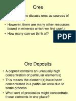 Lecture 29 - Ore Minerals