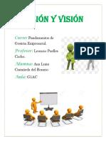 Actividad de Misión y Visión- Castañeda